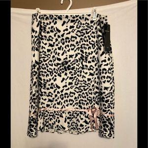 Karen Kane Cheetah Princess Flounced Skirt